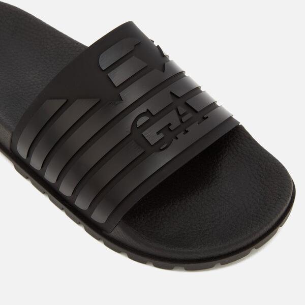 ecb46674d4ddd3 Emporio Armani Men s Slide Sandals - Black  Image 3