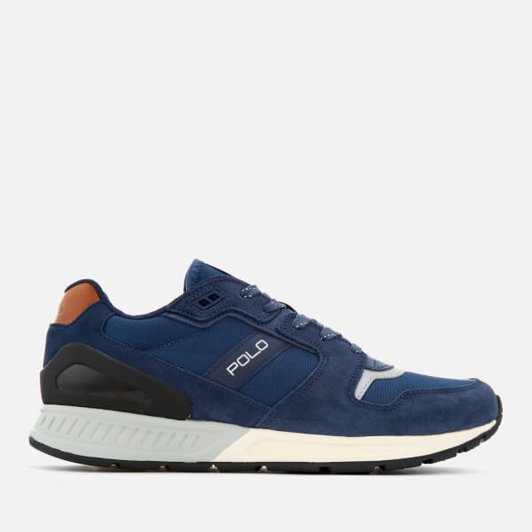 30430e8a272e Polo Ralph Lauren Men s Train 100 Runner Trainers - Indigo Newport Navy   Image 1