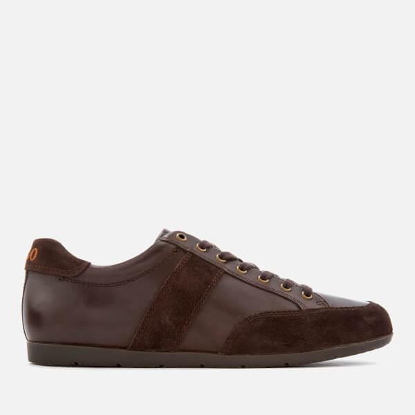 Polo Ralph Lauren Men's Price Nappa/Suede Low Profile Trainers - Dark Brown/Dark Brown