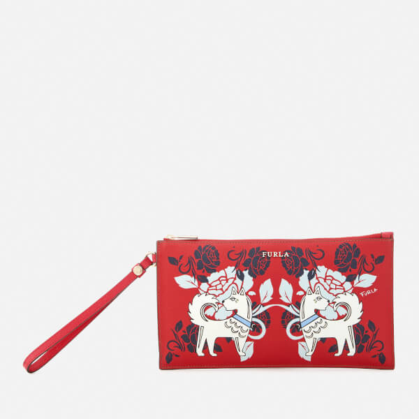 Furla Women's Babylon Extra Large Envelope Clutch Bag - Red