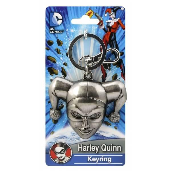 DC Comics Harley Quinn Head Pewter Keyring