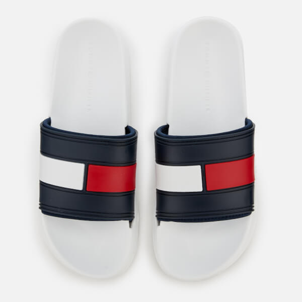 a11cefa71f18 Tommy Hilfiger Men s Splash Slide Sandals - White Mens Footwear ...