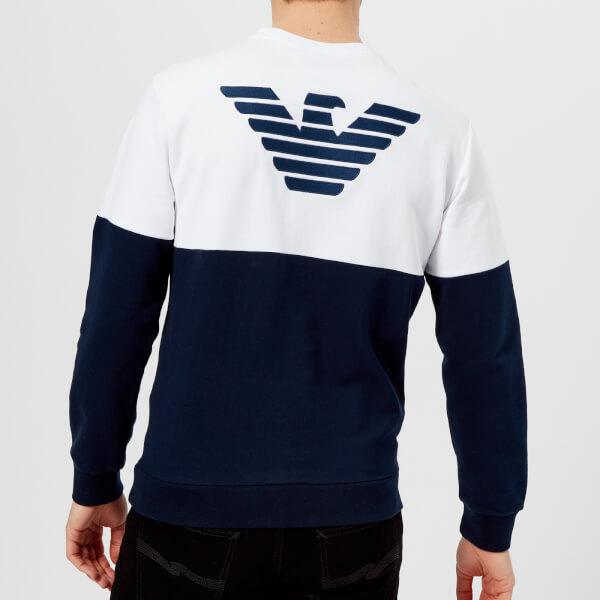 Men's Blu Emporio Colour Uk Split Free Sweatshirt Armani 4Tq5H