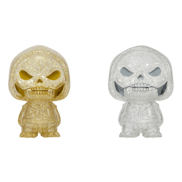 Masters of the Universe Skeletor Gold and Silver Hikari XS Vinyl Figure 2 Pack