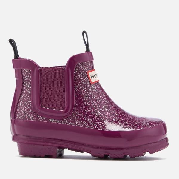 Hunter Kids' Original Glitter Chelsea Boots - Bright Violet