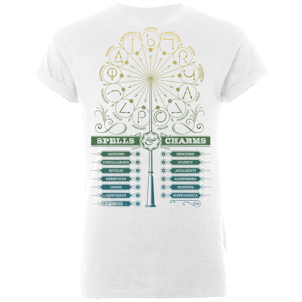 Harry Potter Spells And Charms Women's White T-Shirt