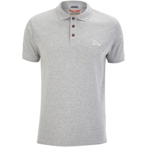 Tokyo Laundry Men's Roseville Polo Shirt - Light Grey Marl