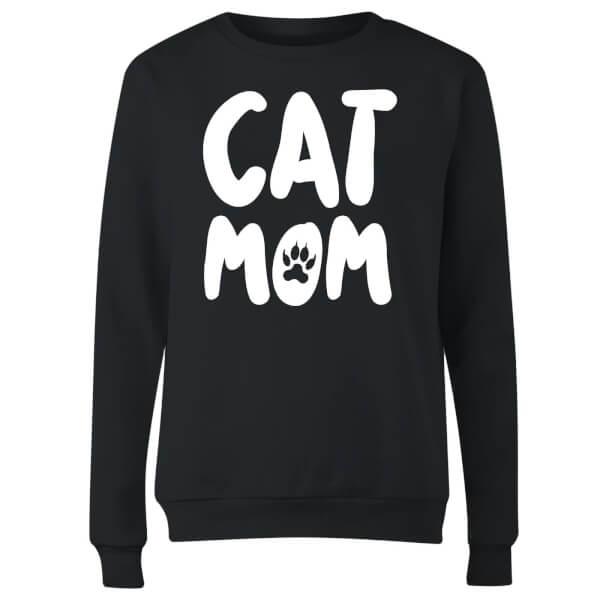 Cat Mom Women's Sweatshirt - Black