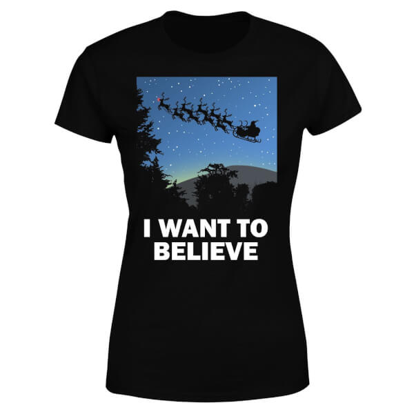 I Want To Believe Women's T-Shirt - Black