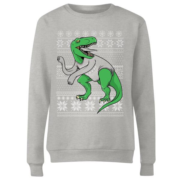 T-Rex Sleeves Women's Sweatshirt - Grey