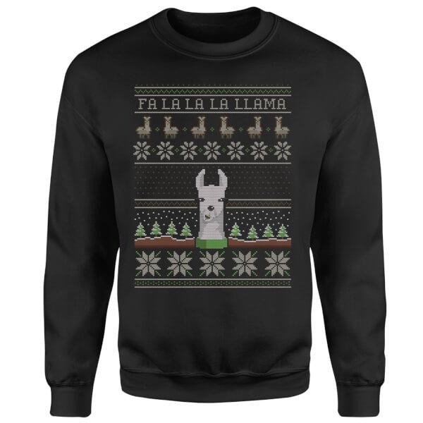 Fa La La La Llama Sweatshirt - Black