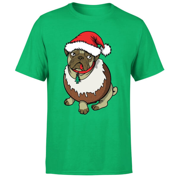 529b4f5b2 Christmas Puggin T-Shirt - Kelly Green Clothing