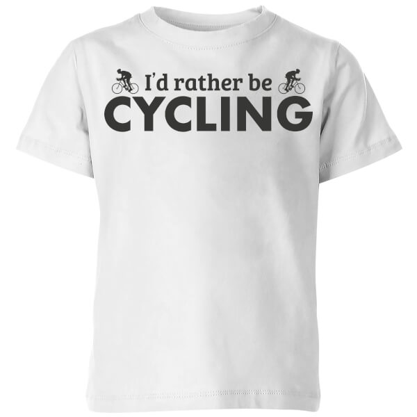 I'd Rather be Cycling Kids' T-Shirt - White