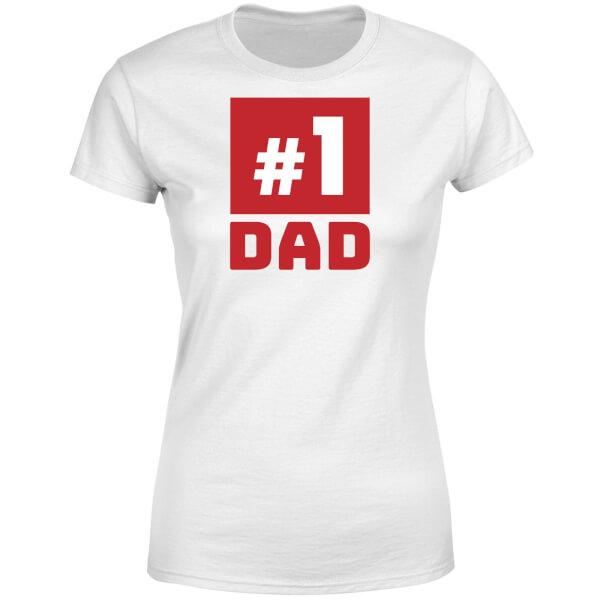 Number 1 Dad Women's T-Shirt - White