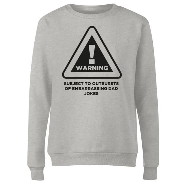 Warning Dad Jokes Women's Sweatshirt - Grey