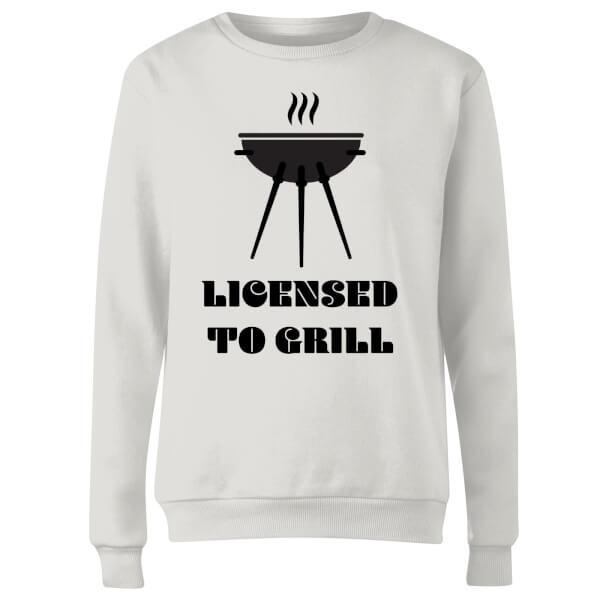 Licensed to Grill Women's Sweatshirt - White