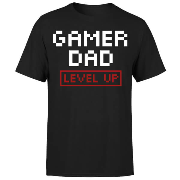 Gamer Dad Level Up T-Shirt - Black