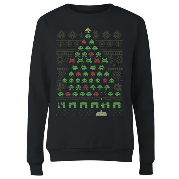 Invaders From Space Women's Sweatshirt - Black