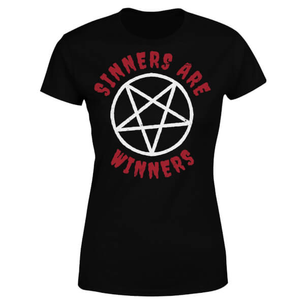 Sinners are Winners Women's T-Shirt - Black