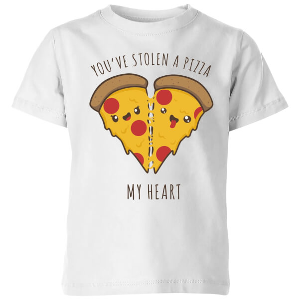 A Pizza My Heart Kids T-Shirt - White