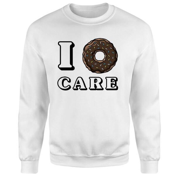 I Donut Care Sweatshirt - White