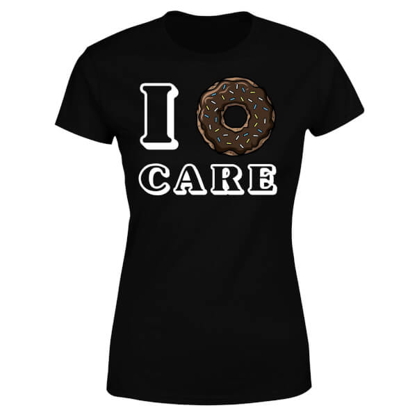 I Donut Care Women's T-Shirt - Black
