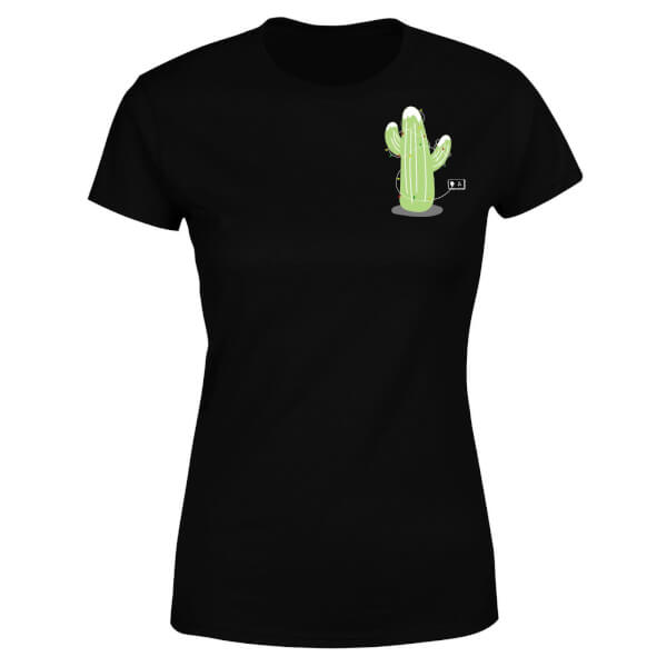 Cactus Fairy Lights Women's T-Shirt - Black