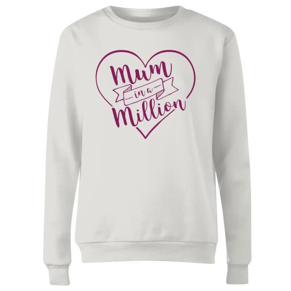 Mum in a Million Women's Sweatshirt - White