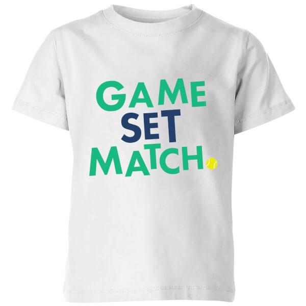 Game Set Match Kids' T-Shirt - White