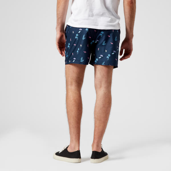 bbe9050960000 Ted Baker Men's Gusty All Over Print Swim Shorts - Navy: Image 2