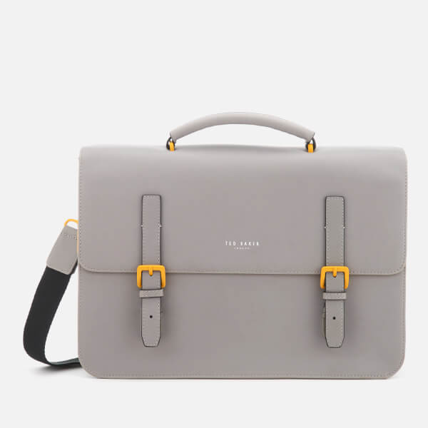 Ted Baker Men's Barma Rubber Look Satchel - Grey