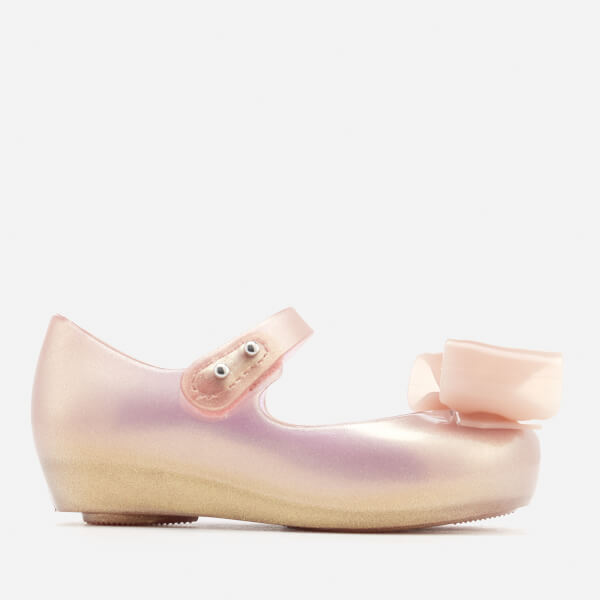 Mini Melissa Toddlers Ultragirl Bow 19 Ballet Flats - Blush Pearlized