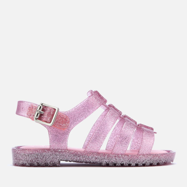 Mini Melissa Toddlers Flox 19 Sandals Pink Glitter