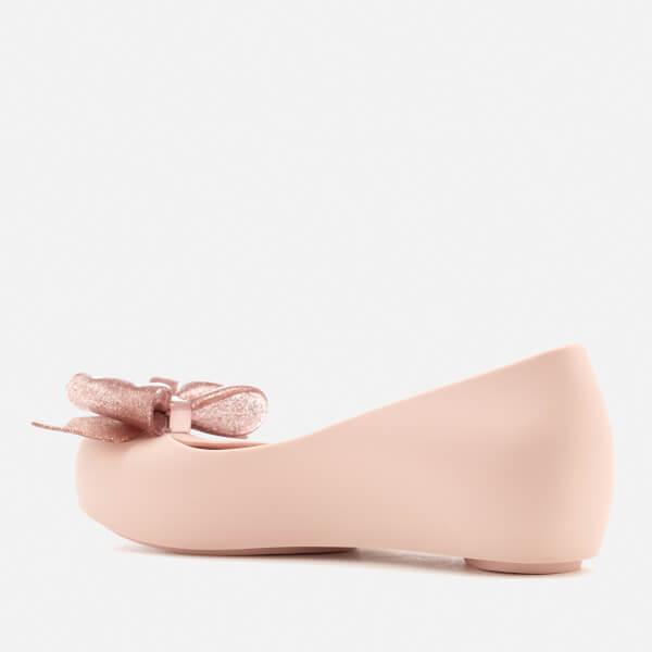 ec515bc24d36 Mini Melissa Kids  Ultragirl Sweet Bow Ballet Flats - Blush Glitter  Image 4