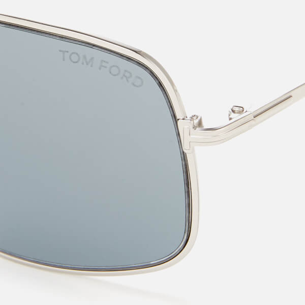 11f724d25c84 Tom Ford Men s Aiden Aviator Style Sunglasses - Shiny Palladium Smoke   Image 3