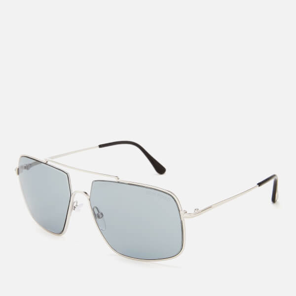 9d9b2d5b6e46 Tom Ford Men s Aiden Aviator Style Sunglasses - Shiny Palladium Smoke   Image 2