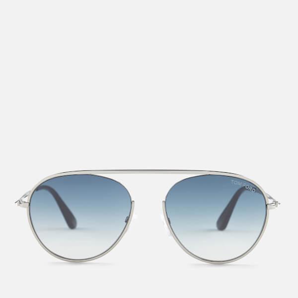 760a20856aa8e Tom Ford Men s Keith Aviator Style Sunglasses - Shiny Gunmetal Gradient  Blue  Image 1