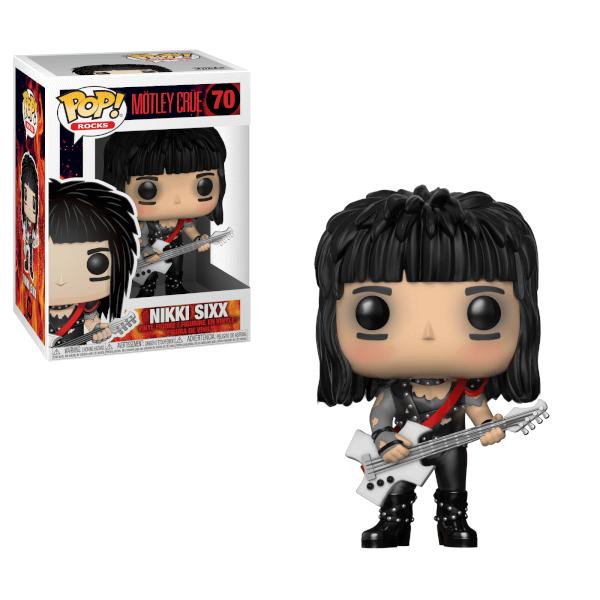 Pop! Rocks Motley Crue- Nikki Sixx Pop! Vinyl Figure