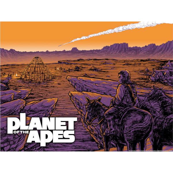 Planet of the Apes 'Falling Star' Glow in the Dark Lithograph Print by Barry Blankenship (18 x 24 Inch) - Zavvi UK Exclusive Timed Sale