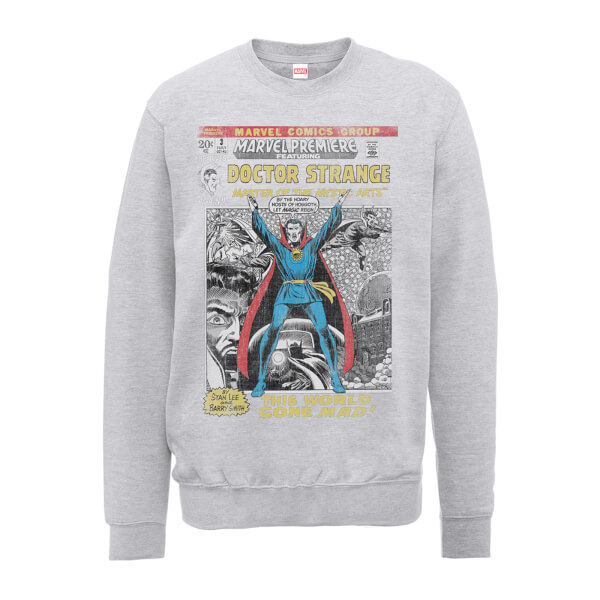 Marvel Doctor Strange premiere Comic Cover Men's Grey Sweatshirt