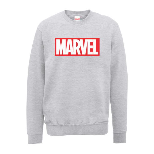 Marvel Main Logo Mens Grey Sweatshirt