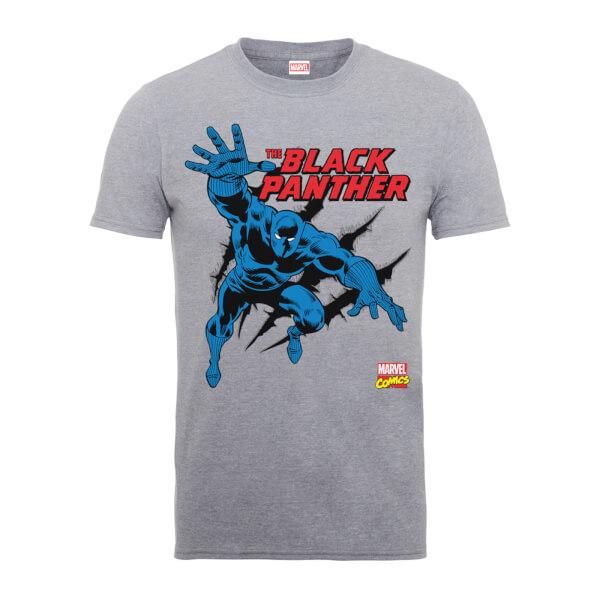 Marvel Comics The Black Panther Men's Grey T-Shirt