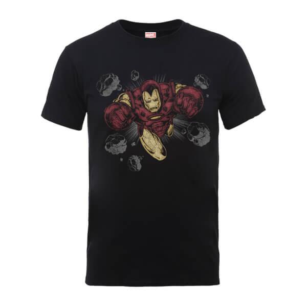 Marvel Comics Iron Man Rocks Men's Black T-Shirt