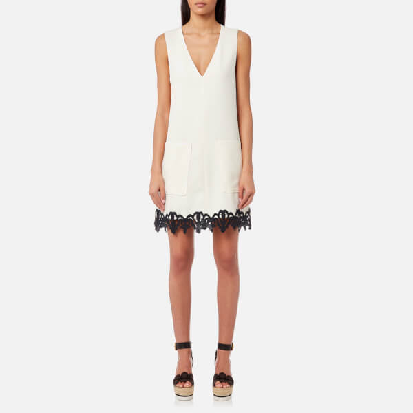 See By Chloé Women S Crepe And Ribbon Sleeveless Dress Snow White Image 1