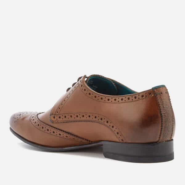 fbbe598f724dd Ted Baker Men s Hosei Leather Wing Tip Brogues - Tan Clothing ...