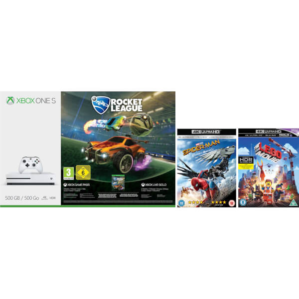 Xbox One S 500GB with Rocket League Bundle, The LEGO Movie 4k ...