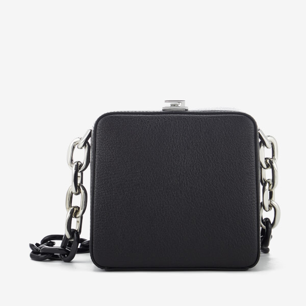 The Volon Women's Cube Chain Bag - Black