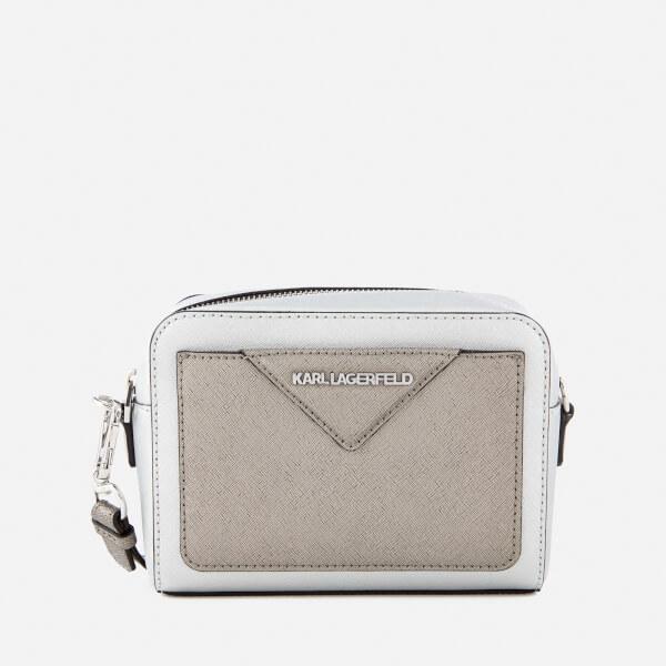 23d3ddaa8d4a Karl Lagerfeld Women s K Klassik Camera Bag - Silver Womens ...