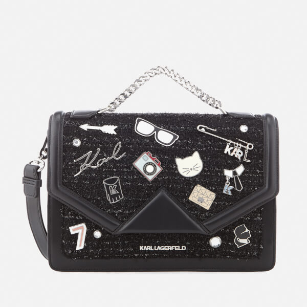Karl Lagerfeld Women's K/Klassik Pins Shoulder Bag - Black