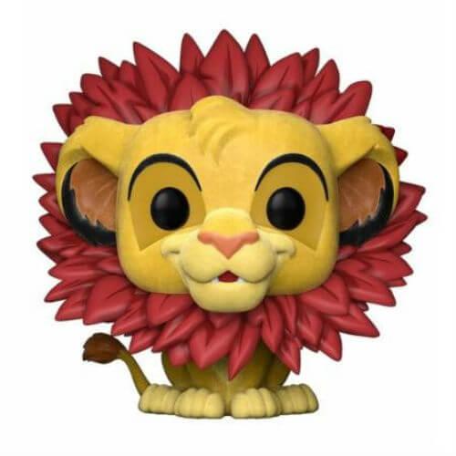 The Lion King Simba Flocked EXC Pop! Vinyl Figure